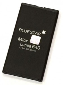 Bateria BlueStar do Nokia 640 Lumia 2600 mAh Li-Ion