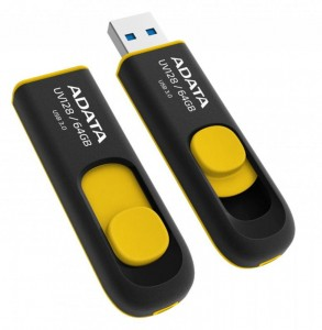 64GB Adata pamięć USB UV128 USB 3.0 Black+Yellow