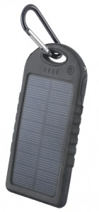 Power Bank Setty 5000mAh solarny kolor: czarny