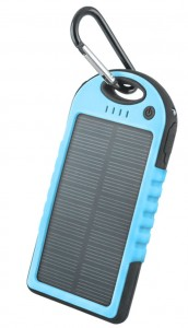 Power Bank Setty 5000mAh solarny kolor: niebieski