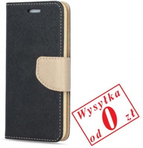 Samsung Galaxy A6 2018 Etui Pokrowiec Book Smart Fancy kolor: czarno-złoty