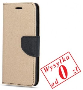 Samsung Galaxy J6 Plus 2018 Etui Pokrowiec Book Smart Fancy kolor: złoto-czarny