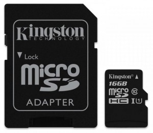 16GB Karta Pamięci Kingston microSDHC class10