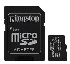 32GB Karta Pamięci Kingston microSD Canvas Select Plus 100MB/s