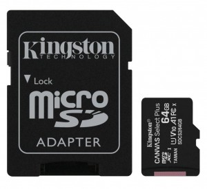 64GB Karta Pamięci Kingston microSD Canvas Select Plus 100MB/s