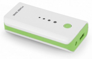 Power Bank Esperanza Electron 5200mAh kolor: biało-zielony