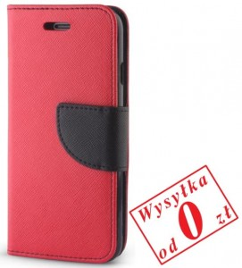 Apple iPhone 4, 4s Etui Pokrowiec Book Smart Fancy kolor: czerwono-granatowy