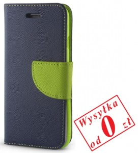 Samsung Galaxy S3 i9300 Etui Pokrowiec Book Smart Fancy kolor: granatowo-zielony