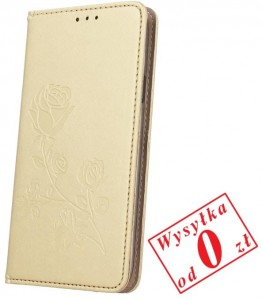 Huawei Y7 Etui Pokrowiec Book Smart Stamp Rose kolor: złoty