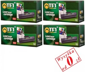 Komplet 4x Toner TF1 do HP 540A 541A 542A 543A CP1215 CP1515