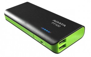 Power Bank Adata PT100 10000 mAh 2.1A Czarny-Zielony