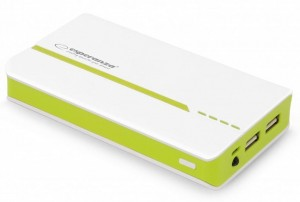 Power Bank Esperanza Atom 11000mAh kolor: biało-zielony