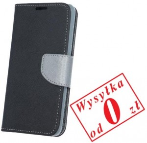 Samsung Galaxy A3 2017 A320 Etui Pokrowiec Book Smart Fancy kolor: czarno-stalowy